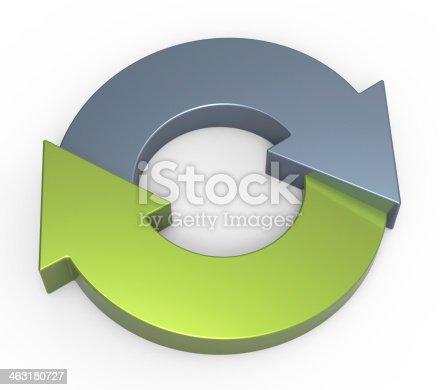 istock Process flow chart diagram 463180727