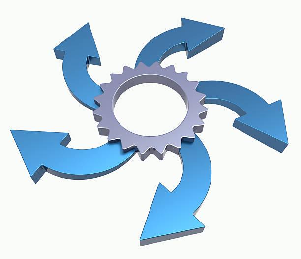 Process flowchart diagram stock photo