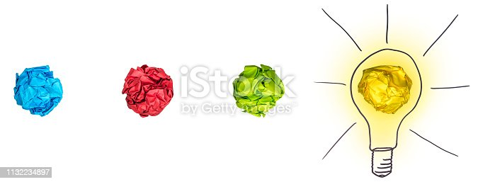 istock Process of brainstorming 1132234897