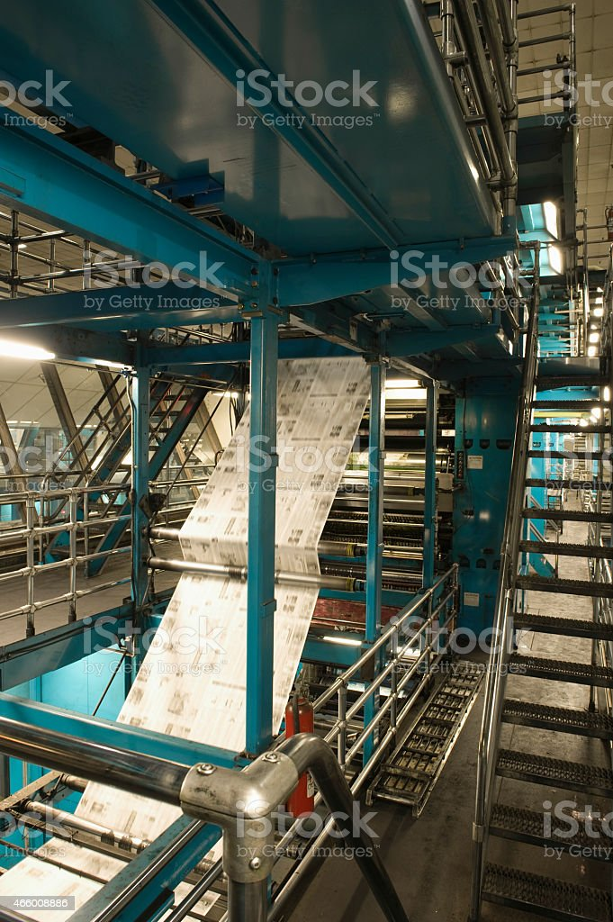 Process Of Newspaper Production royalty-free stock photo