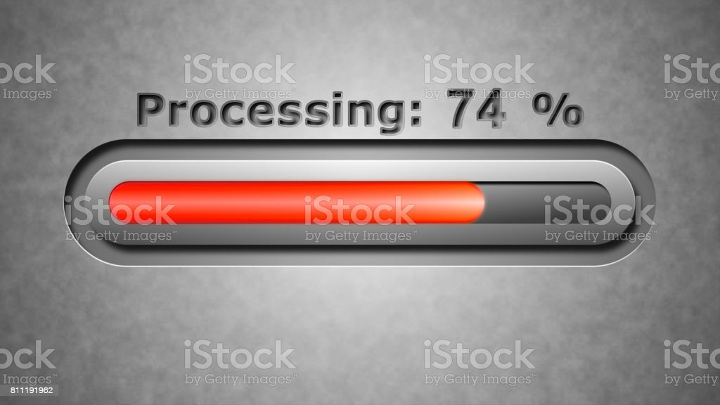 Process of Processing stock photo