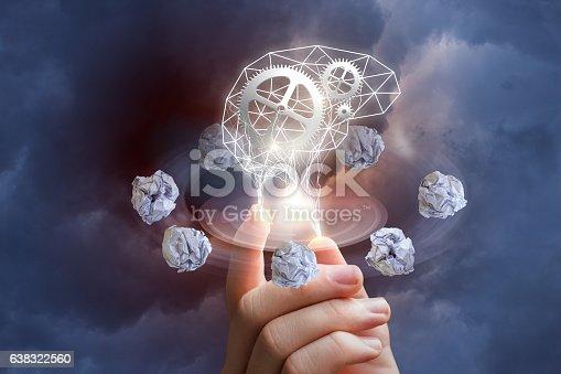 istock Process of thinking. 638322560