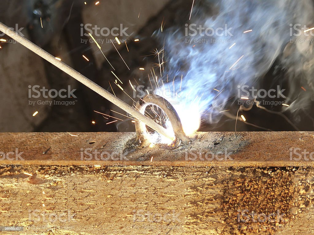 Process  welding  metal royalty-free stock photo