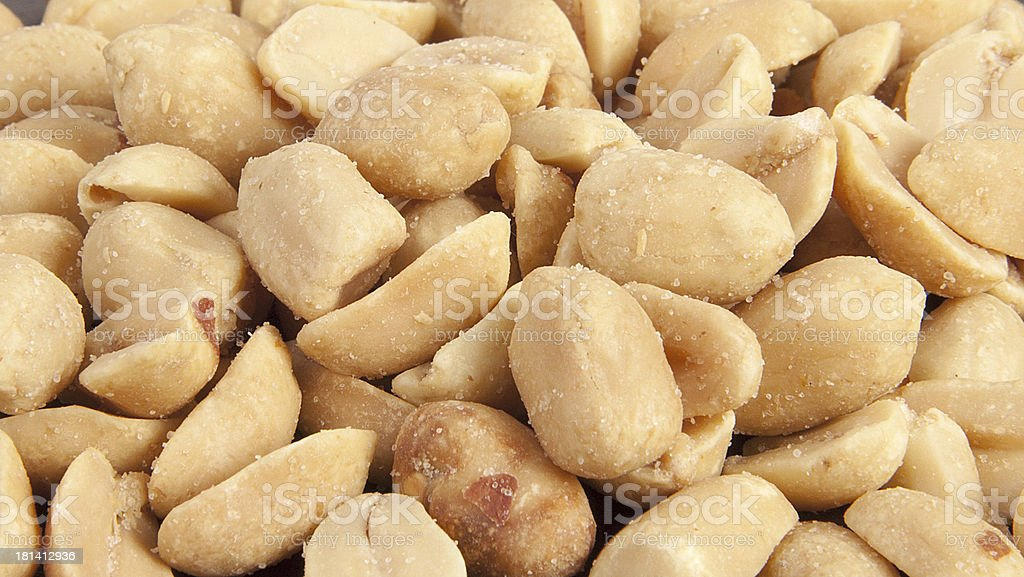 Processed pea nuts background stock photo
