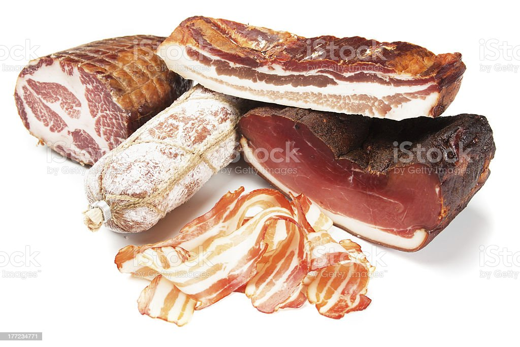 Processed pork meat stock photo