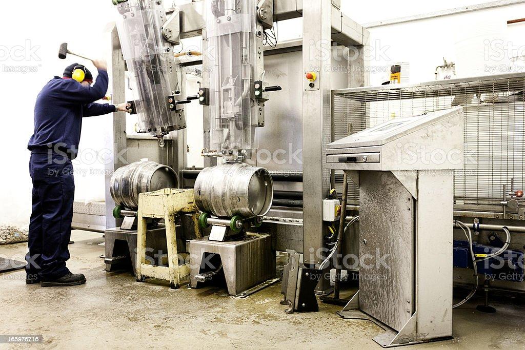 Processing beer kegs royalty-free stock photo