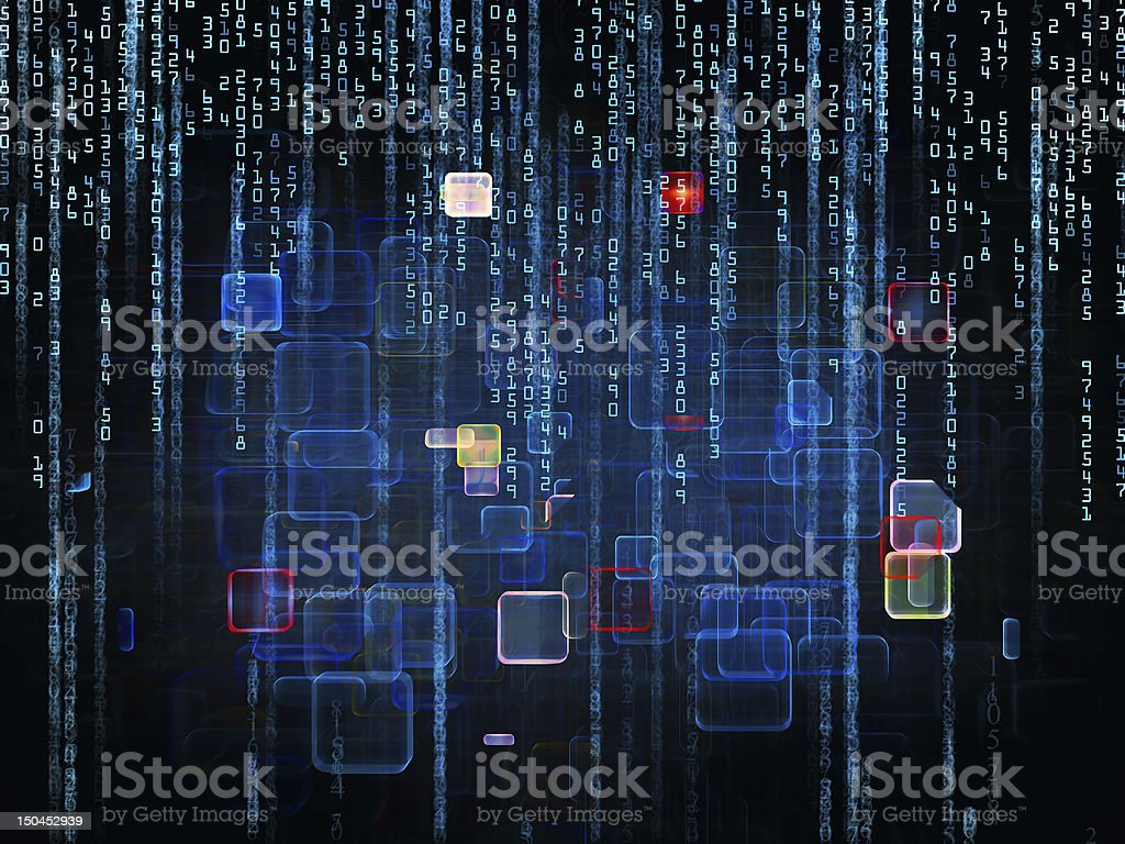 Processing Numbers royalty-free stock photo