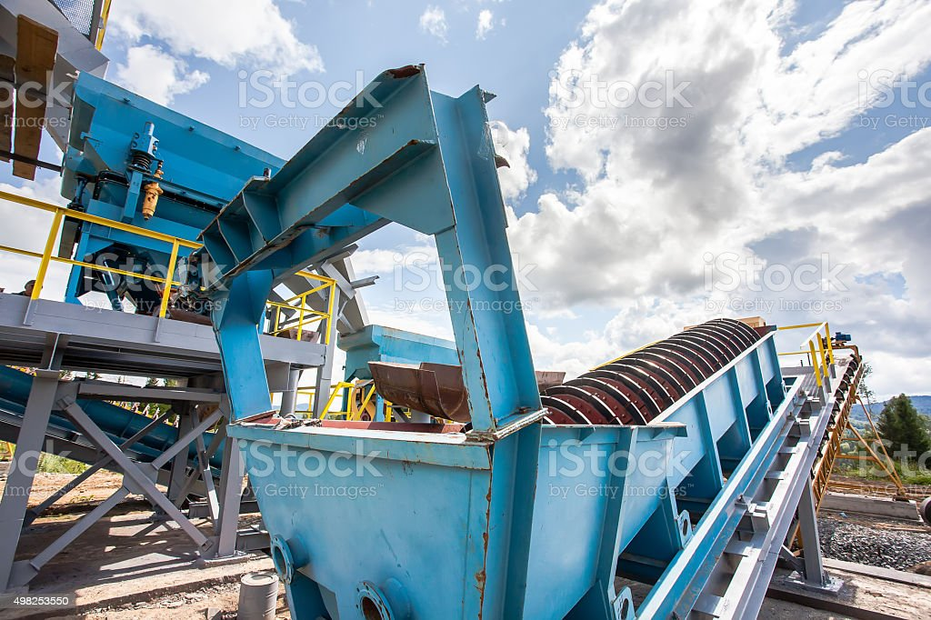 Processing of manganese ore stock photo