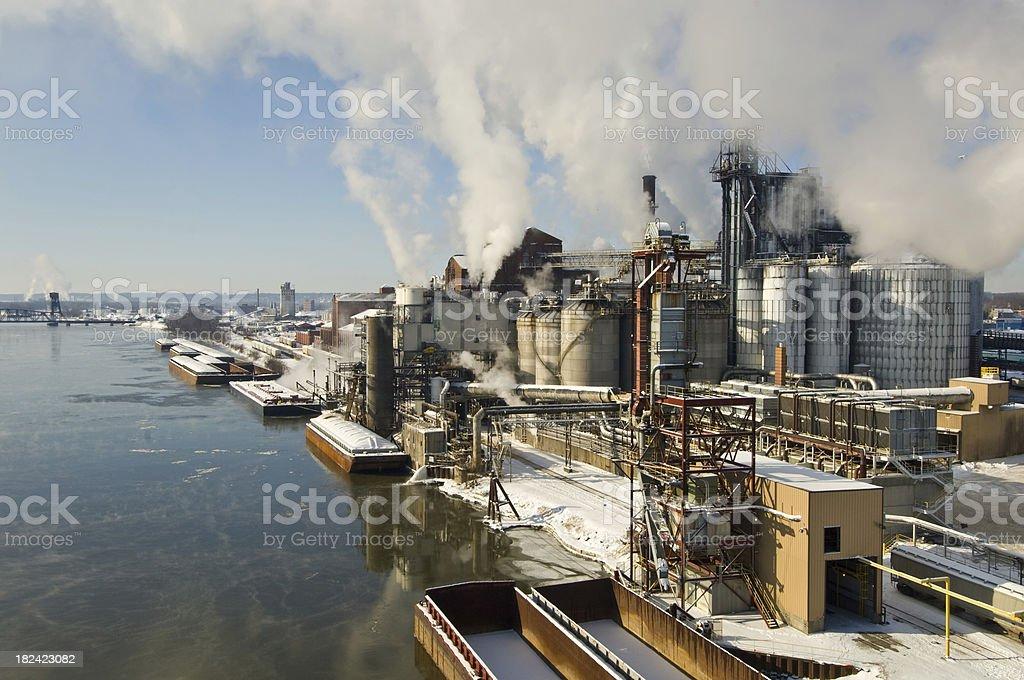 Processing plant stock photo