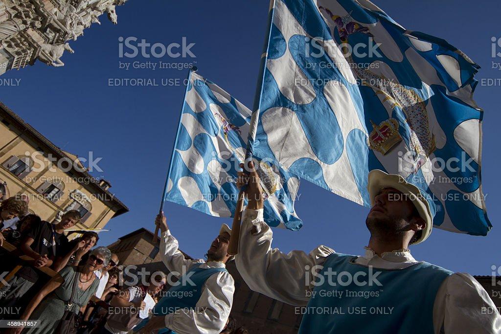 Procession Before The Palio Di Siena Italy stock photo