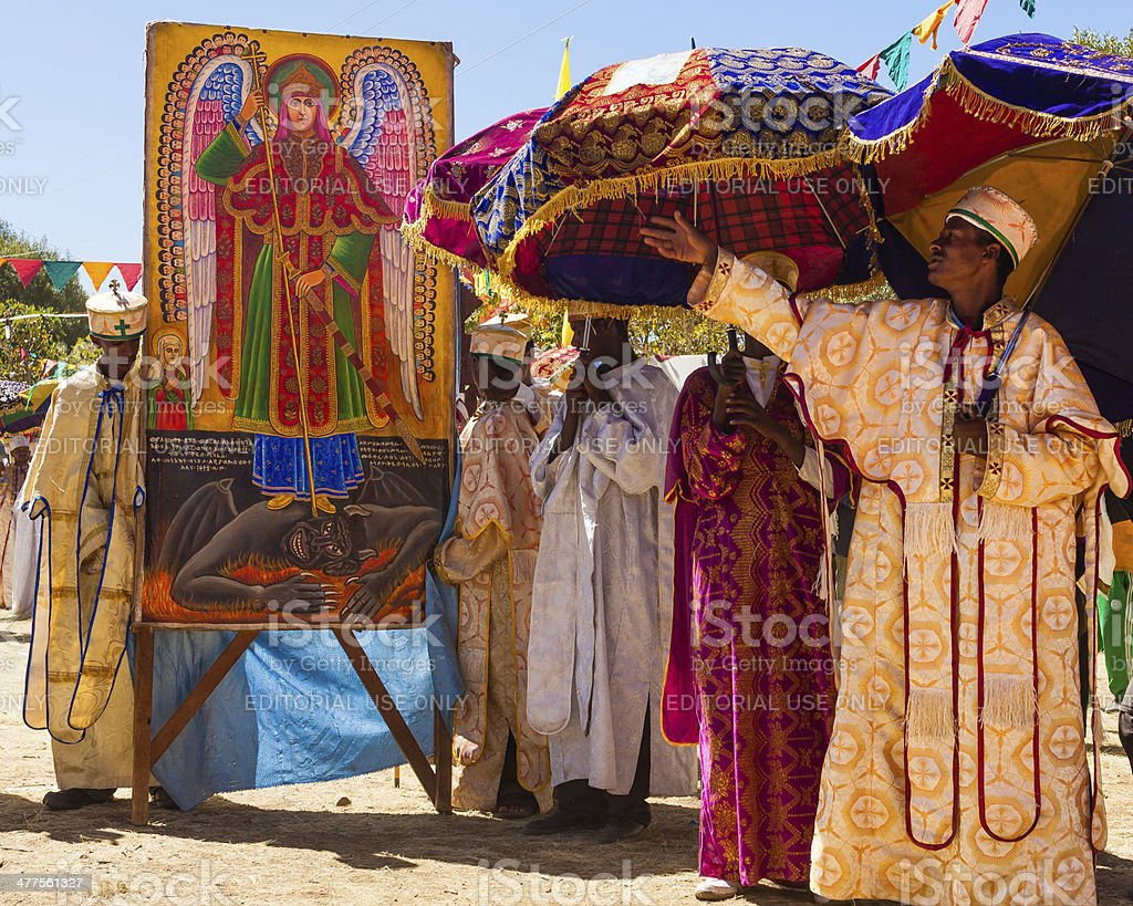 Procession during Timkat festival stock photo