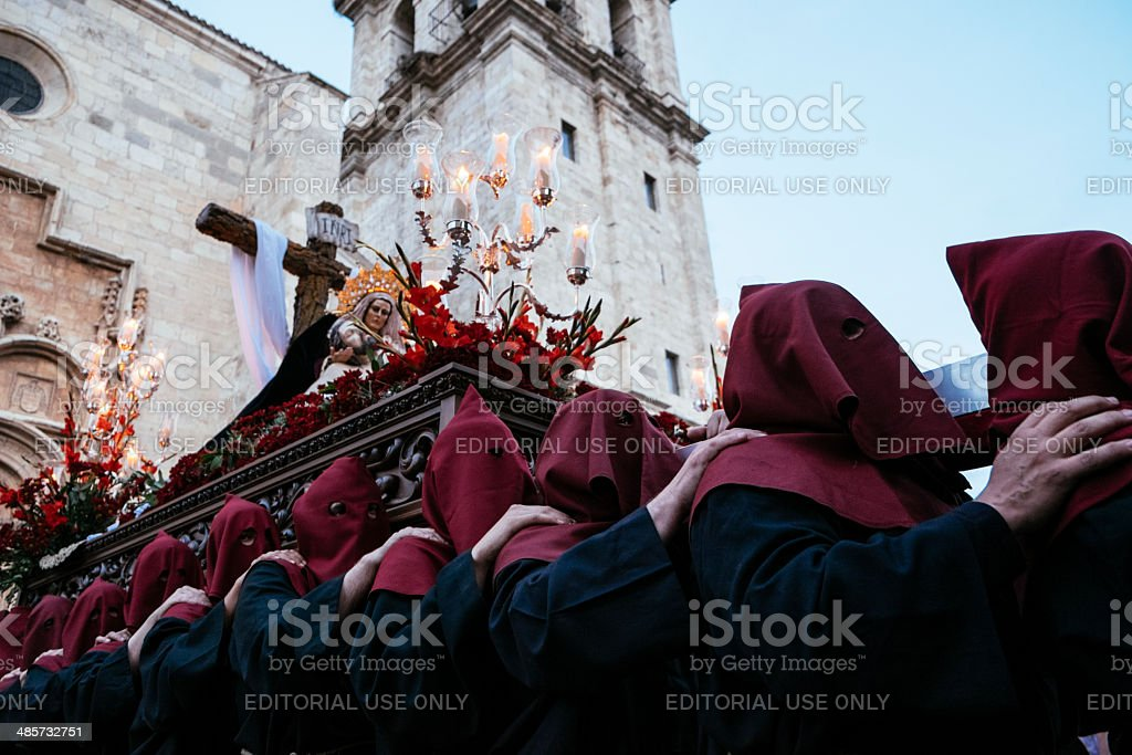 Procession in Spain stock photo