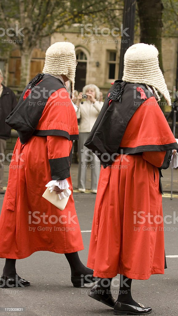 Procession of Judges royalty-free stock photo