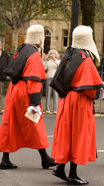 Procession of Judges stock photo