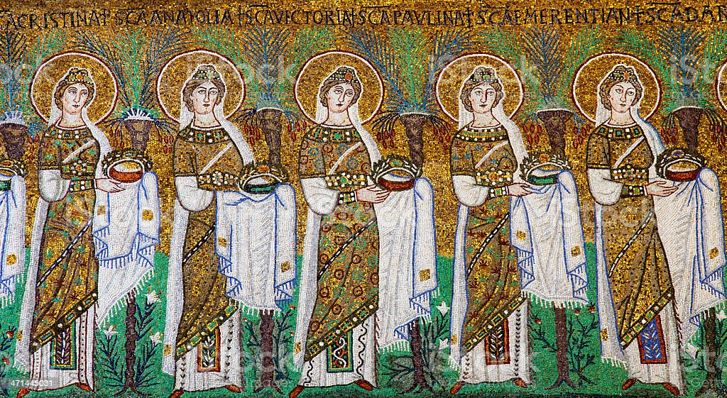 Procession of the Virgins (Ravenna,Italy) stock photo