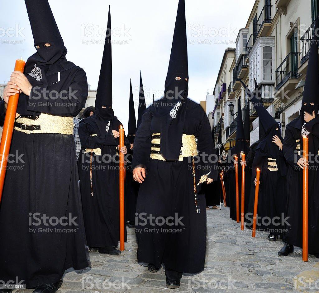 Processions of Nazarenos stock photo
