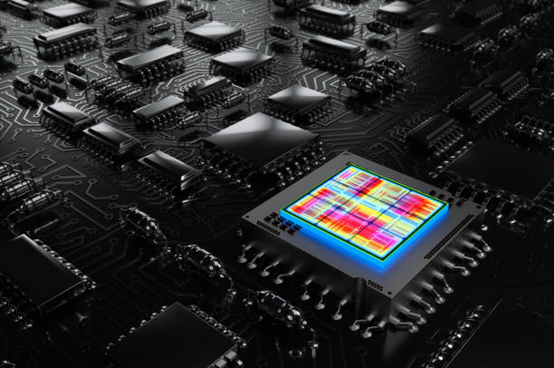Processor Abstract Background stock photo