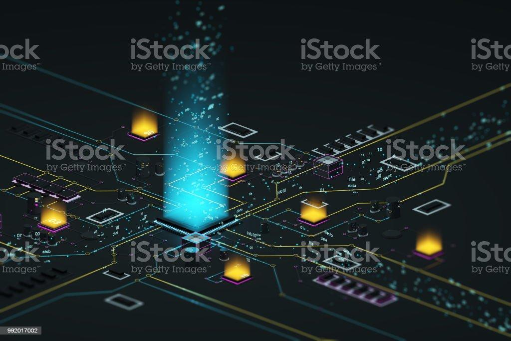Processor and data stock photo
