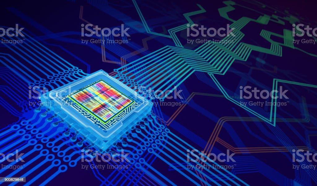 Processor Background stock photo