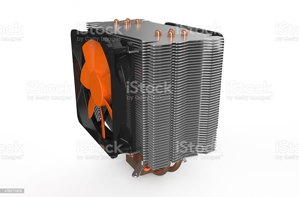 processor cooler 2 stock photo