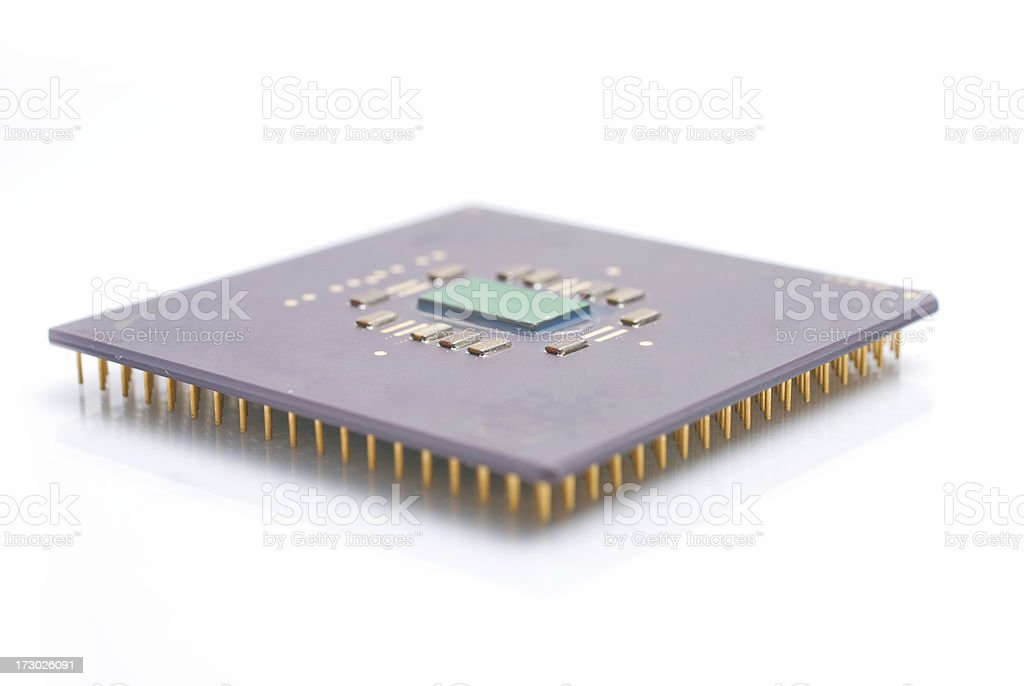 Processor CPU from computer stock photo