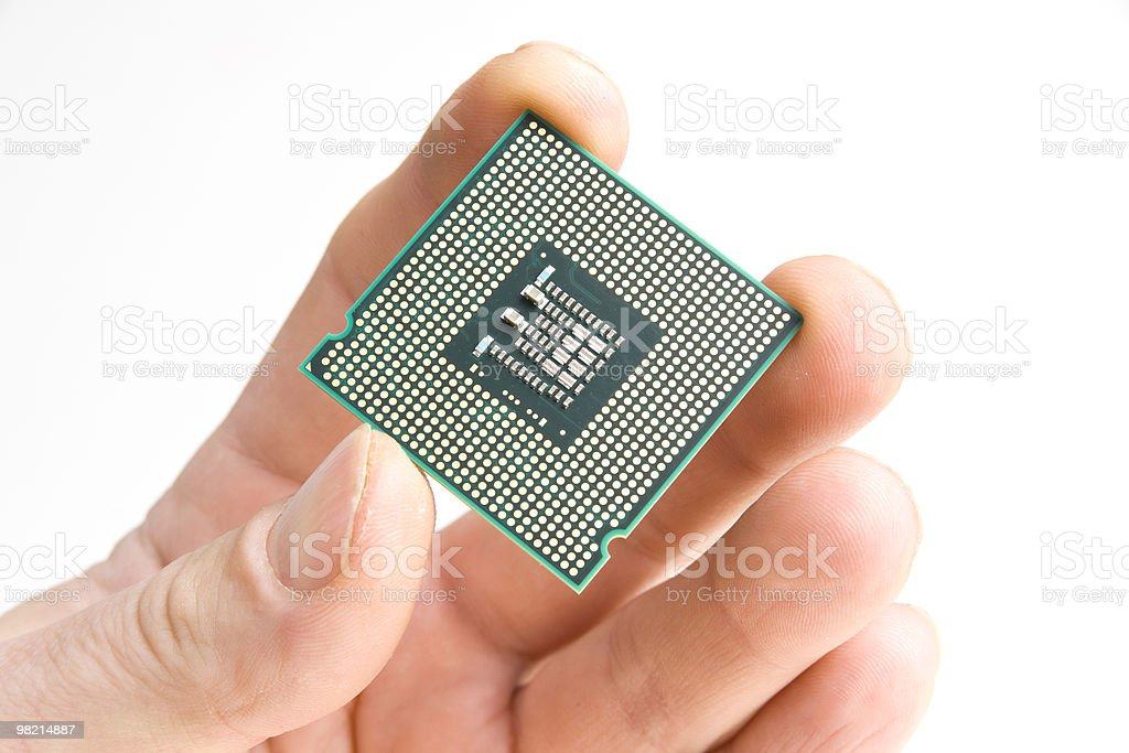 Processor in the hand royalty-free stock photo