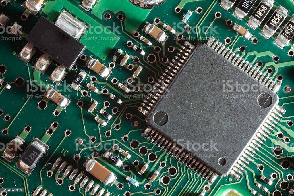 Processor on board stock photo