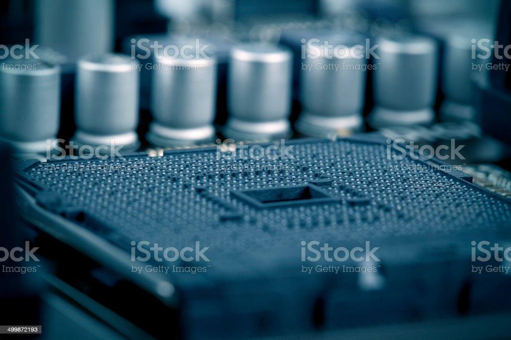 Processor socket stock photo