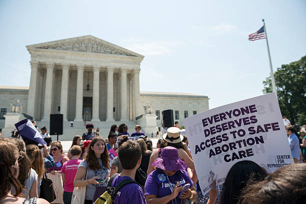 pro-choice supporters at u.s. supreme court - abortion stock photos and pictures