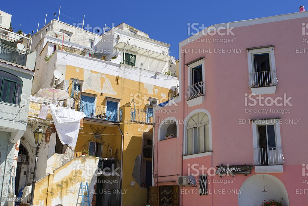 "Procida, Fisherman's Village ""La Corricella"", Bay of Naples, Italy royalty-free stock photo"