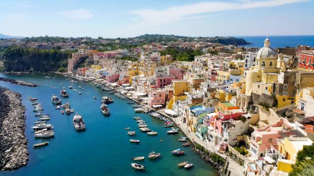procida island in italy (campania) - procida foto e immagini stock