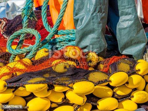 Fishing nets on Procida Island, Italy
