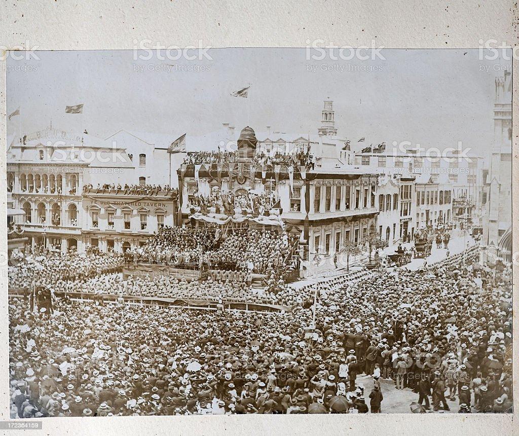 Proclamation of King Edward VII stock photo