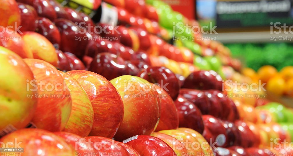Produce - Apples on Sale stock photo