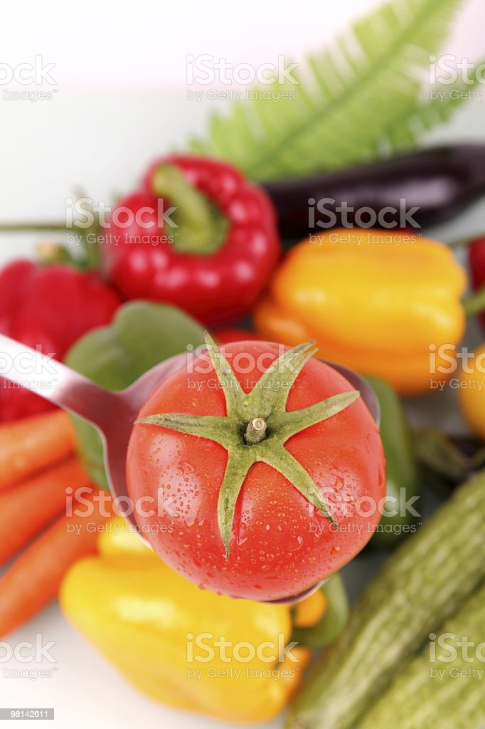 Produce Background - Fresh Vegetables royalty-free stock photo