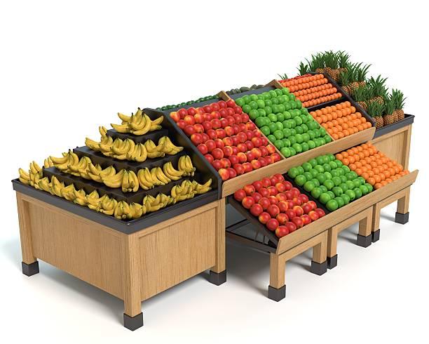 Produce Display stock photo