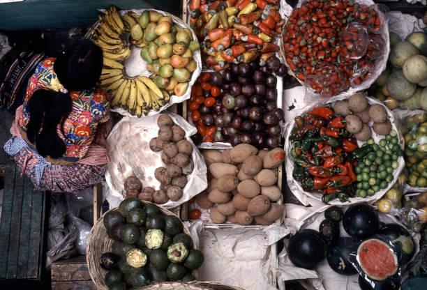 erzeugnisse markt - guatemala stadt stock-fotos und bilder