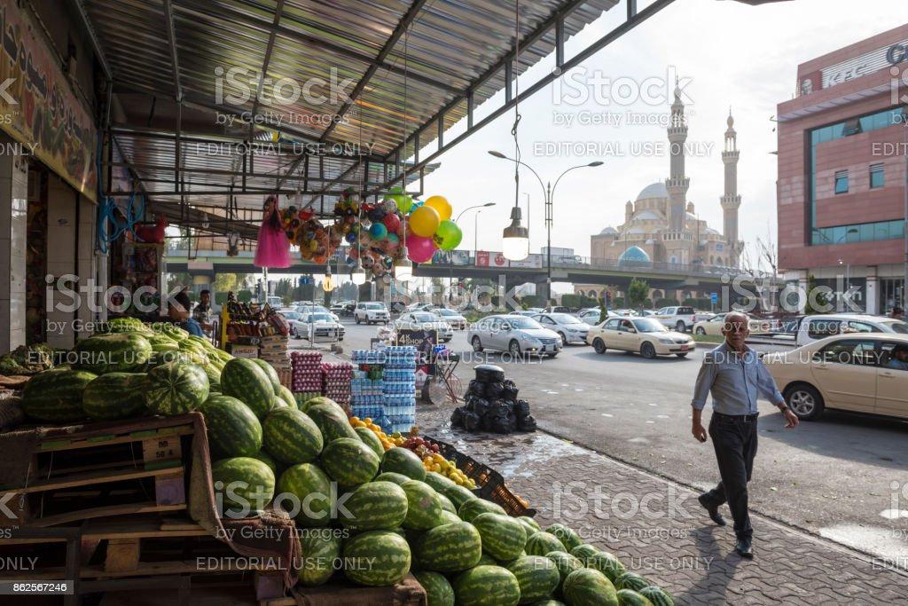 Soporte de producto en Erbil, Irak - foto de stock