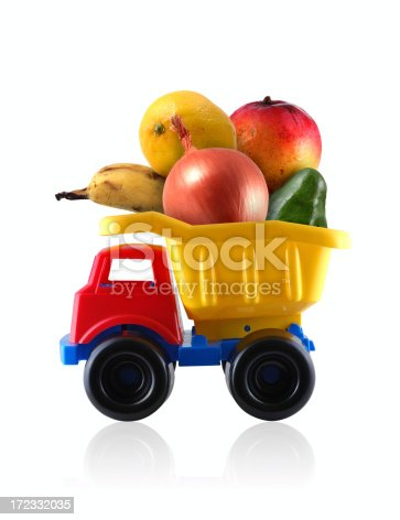 colorful toy produce truck