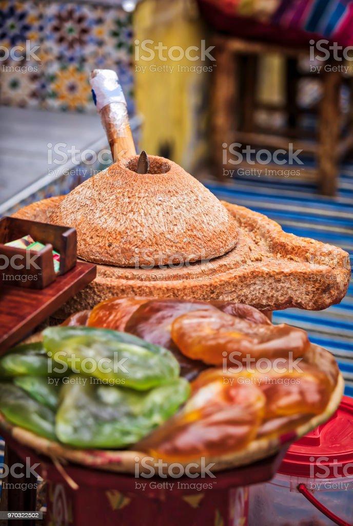 producing argan oil (HDRi) stock photo