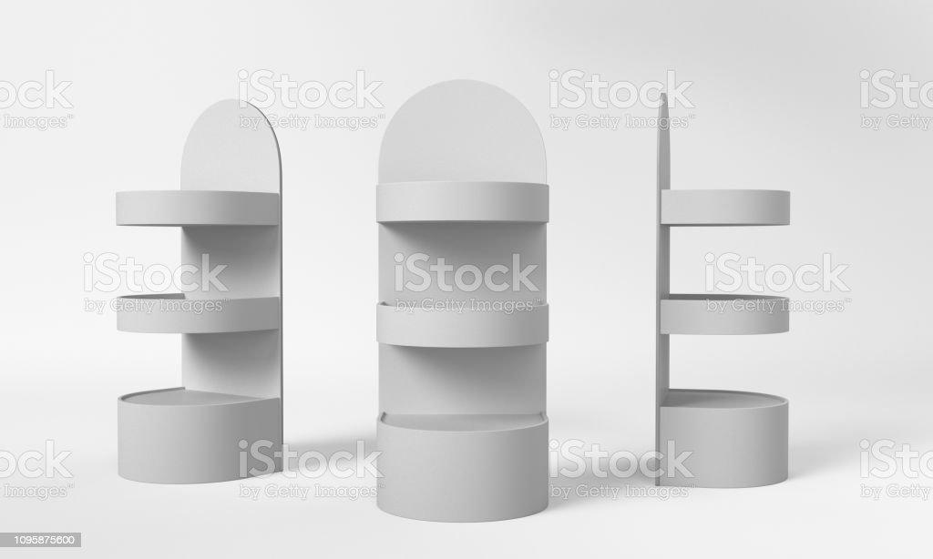 Product Display Shelf Mockup Stock Photo - Download Image Now