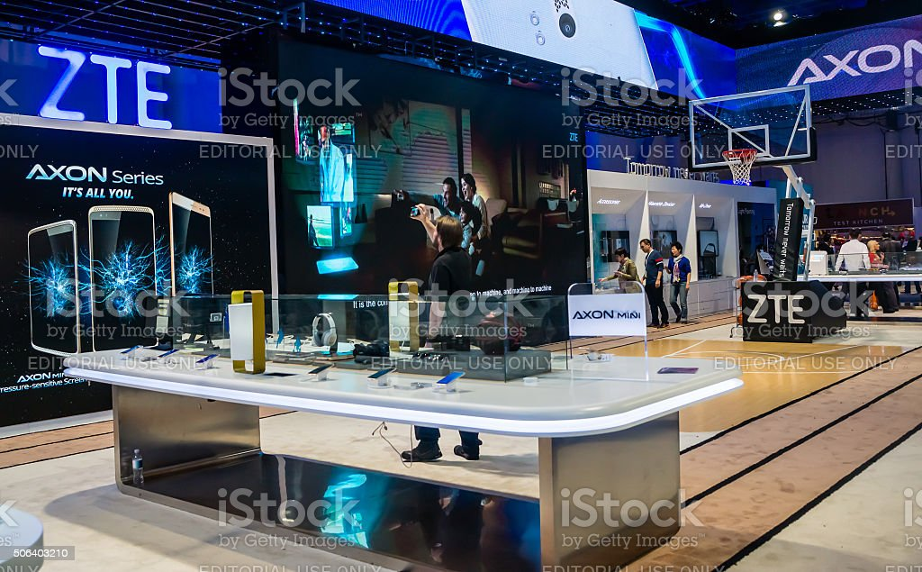 2016 CES Product Exhibit stock photo