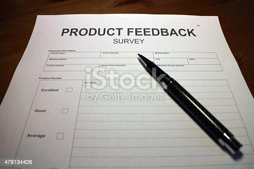 istock Product Feedback Survey Form 479134426