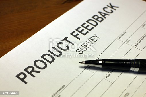178090546 istock photo Product Feedback Survey 479134420