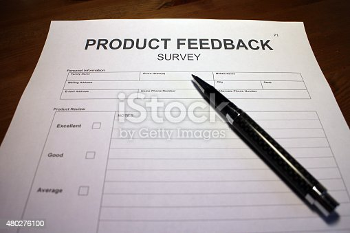 178090546 istock photo Product Feedback Survey 480276100