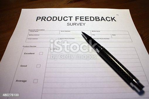 istock Product Feedback Survey 480276100