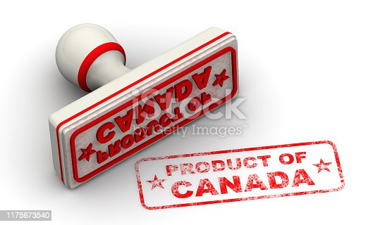 1181637623istockphoto Product of Canada. Seal and imprint 1175673540