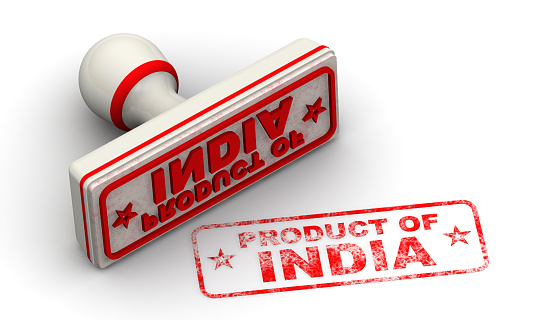 1181637623 istock photo Product of India. Seal and imprint 1169814096