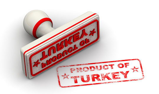 1181637623 istock photo Product of Turkey. The seal and imprint 1192849939