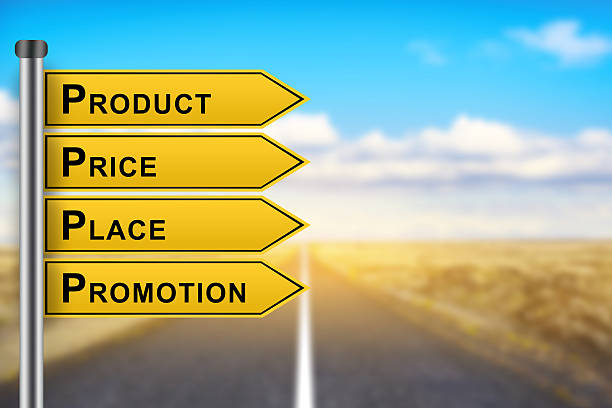 product price place promotion marketing concept words stock photo